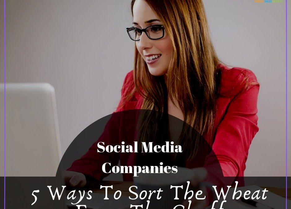 Social Media Companies – 5 Ways To Sort The Wheat From The Chaff